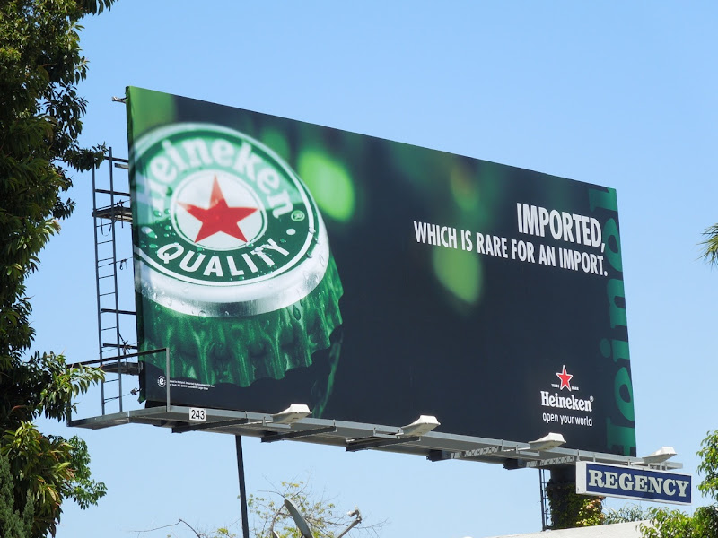 Heineken beer imported billboard