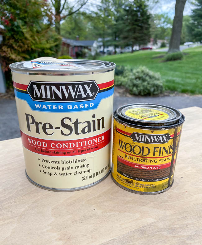 pre-stain wood conditioner and wood stain