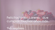 Feliz Cumpleaños Lorena Imágenes