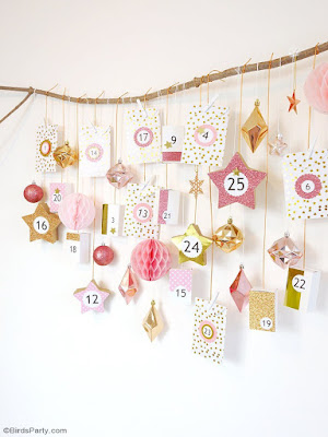 Pink and Copper Advent Calendar by Bird's Party