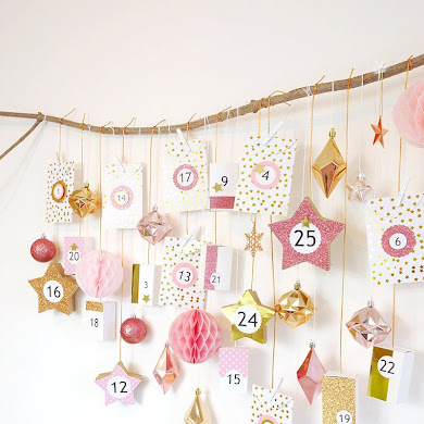 Pink & Copper DIY Advent Calendar