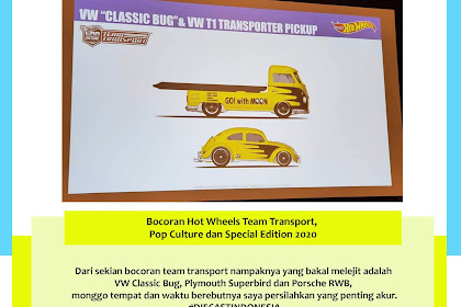 Bocoran Hot Wheels Team Transport, Pop Culture dan Special Edition 2020