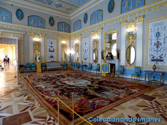Habitacion azul en el Palacio de Catalina de Pushkin