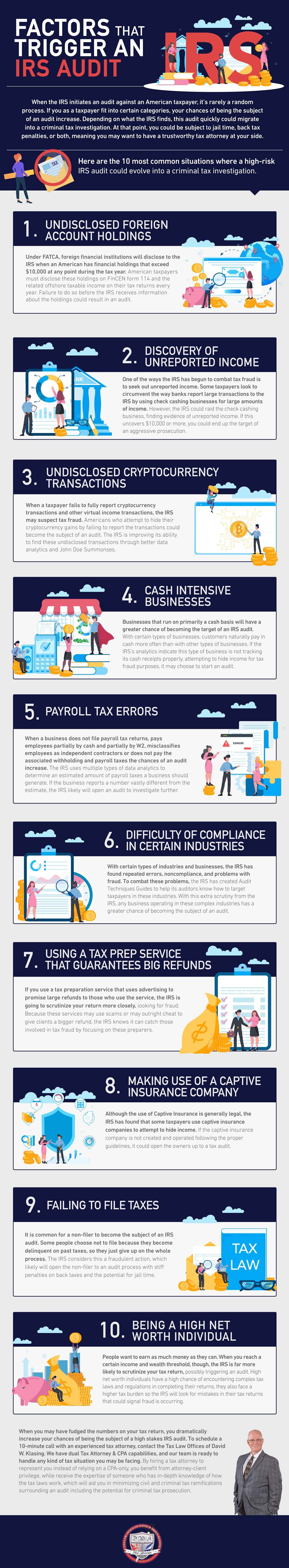Factors That Trigger an IRS Audit #infographic