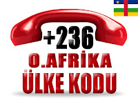+236 Orta Afrika Cumhuriyeti ülke telefon kodu