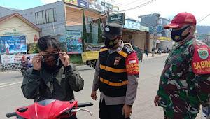 Binmas Polsek Pangalengan Polresta Bandung dan Babinsa Imbau Warga Binaan Patuhi 5M