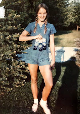 Corinna Everson's teenage picture