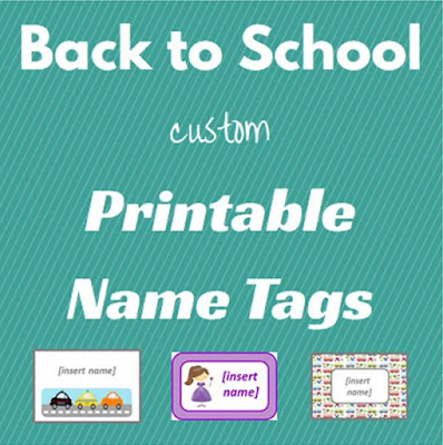 back to school printables, printable name tags