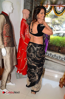 Actress Neetu Chandra Stills in Black Saree at Designer Sandhya Singh's Store Launch  0063.jpg