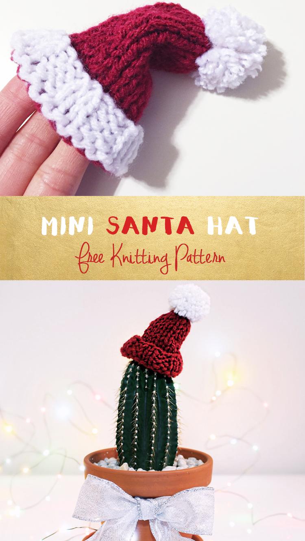 Purllin Happy Holidays Knit Miniature Santa Hat