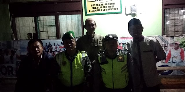 Jaga Kondusifitas, TNI Polri Sumbersuko Patroli Bersama