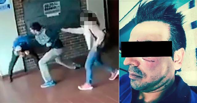 Отец нанес 22 удара за 15 секунд учителю, который домогался его дочери