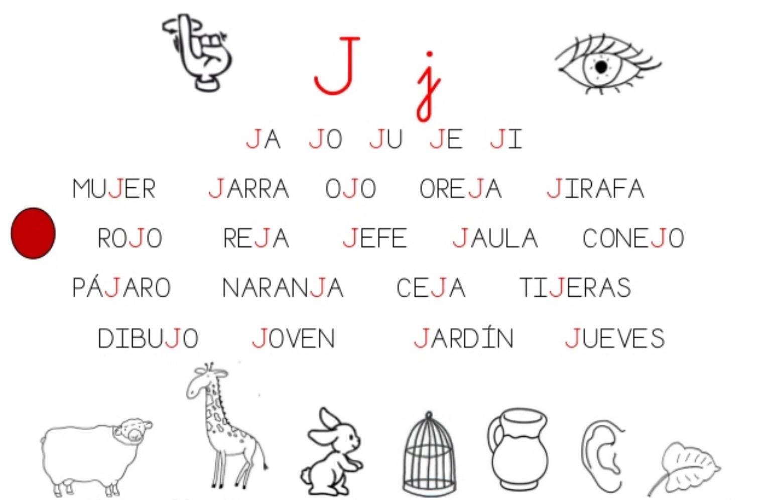 Resultado De Imagen Para Fichas Con Las Silabas Ja Je Ji