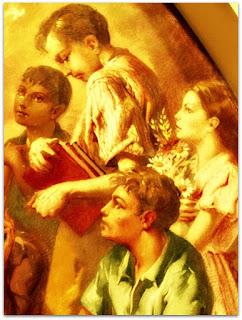 Nossa Senhora e As Crianças, Aldo Locatelli - Detalhe das Crianças