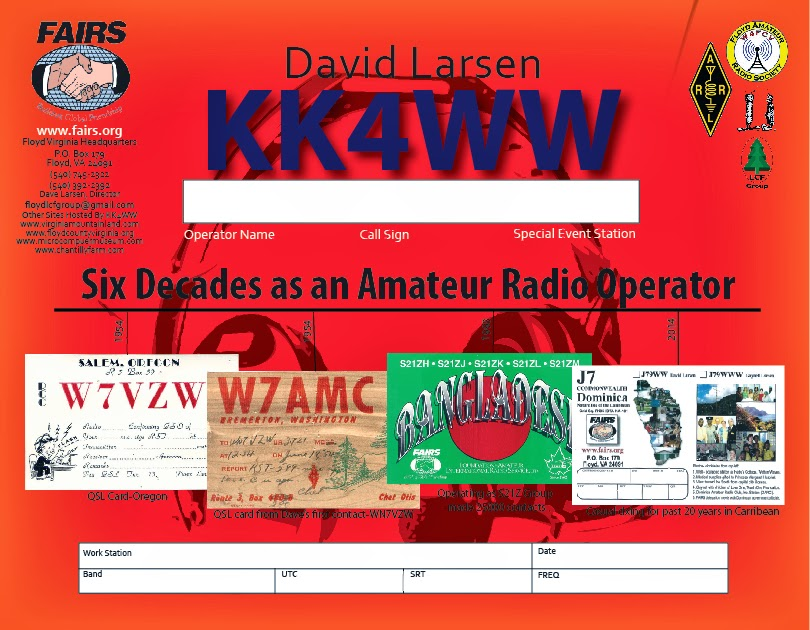 David Larsen QSL KK4WW