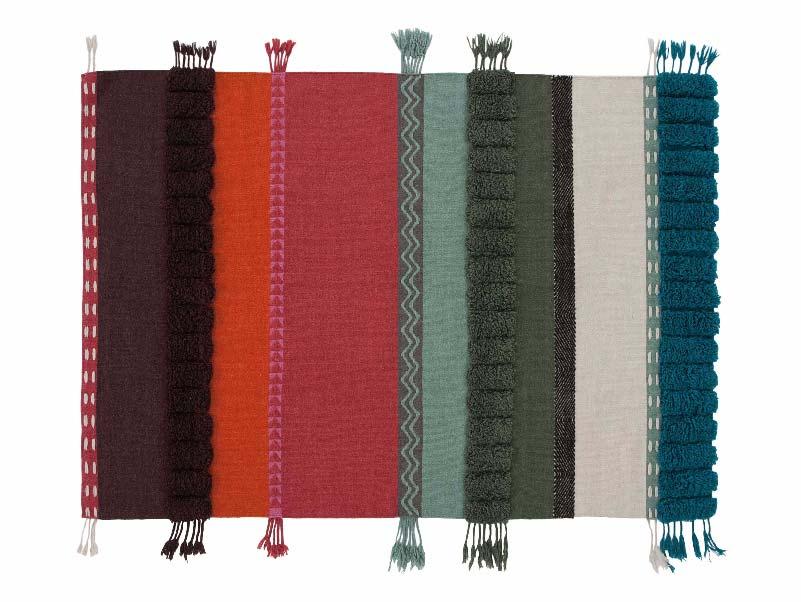 tappeto in lana a righe Alexandra di GAN