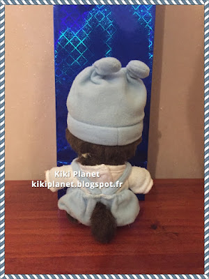 kiki monchhichi bebichhichi bébé salopette ourson bleu noel cadeau