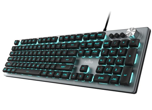 FIODIO Membrane Wired RGB Rainbow Backlit Keyboard
