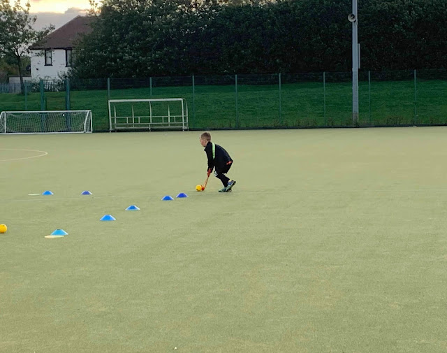 dribbling at hockey heroes lesson