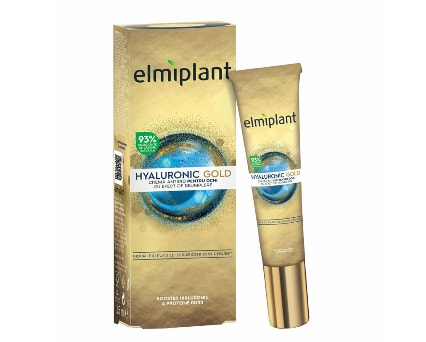 Crema antirid pentru ochi Elmiplant Hyaluronic Gold, 15 ml