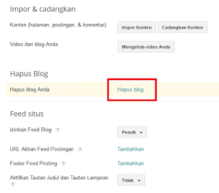 Cara Hapus Blog di Blogspot / Blogger secara Permanen