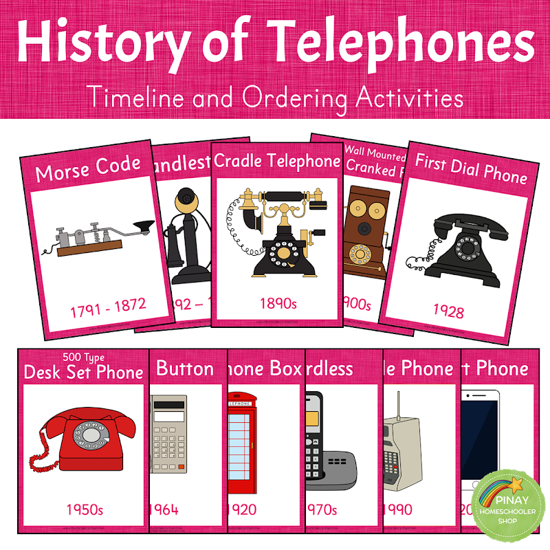 History of Telephones: Timeline and Ordering Activities