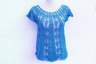 Blusa con piñas Majovel crochet 7