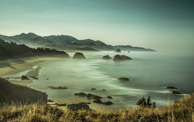 Silky sea shore — at Ecola State Park