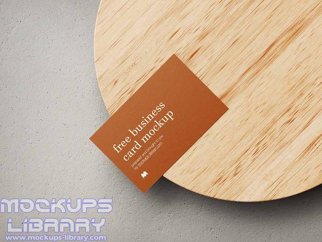 free business card mockup 3
