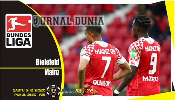 Prediksi Arminia Bielefeld Vs FSV Mainz 05, Sabtu 05 Desember 2020 Pukul 21.30 WIB