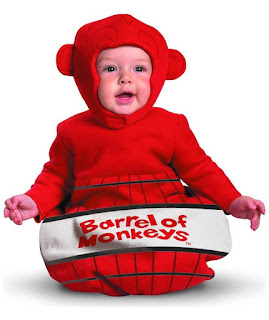Barrel Of Monkeys Bunting Costume Infant - 0-6 Months