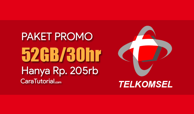 Paket Data Internet Telkomsel 52GB Rp. 205rb 30 Hari