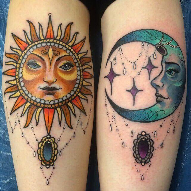 50 Sun And Moon Tattoos 2019 Matching Designs For Couples