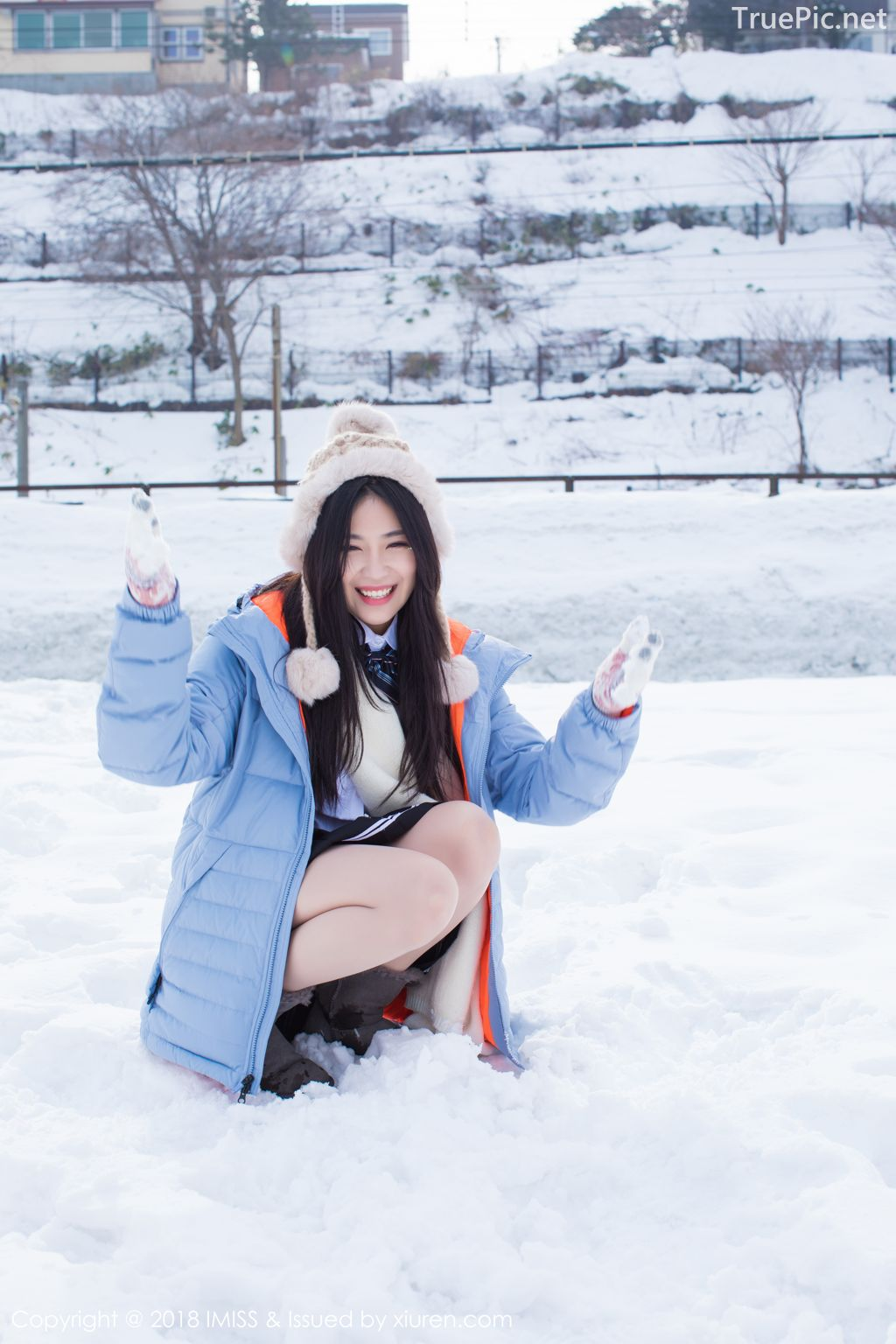 Image-IMISS-Vol.262-Sabrina model–Xu-Nuo-许诺-Sparkling-White-Snow-TruePic.net- Picture-9
