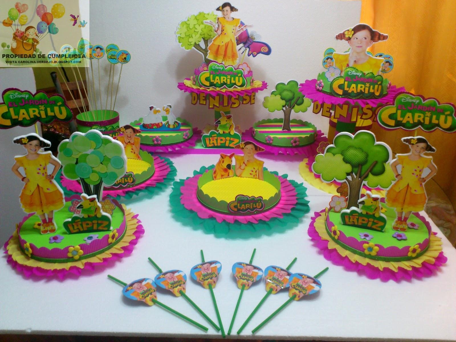 Decoraciones infantiles el jardin de clarilu for Decoracion jardin fiesta cumpleanos