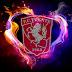 FC Twente achtergrond met vuur