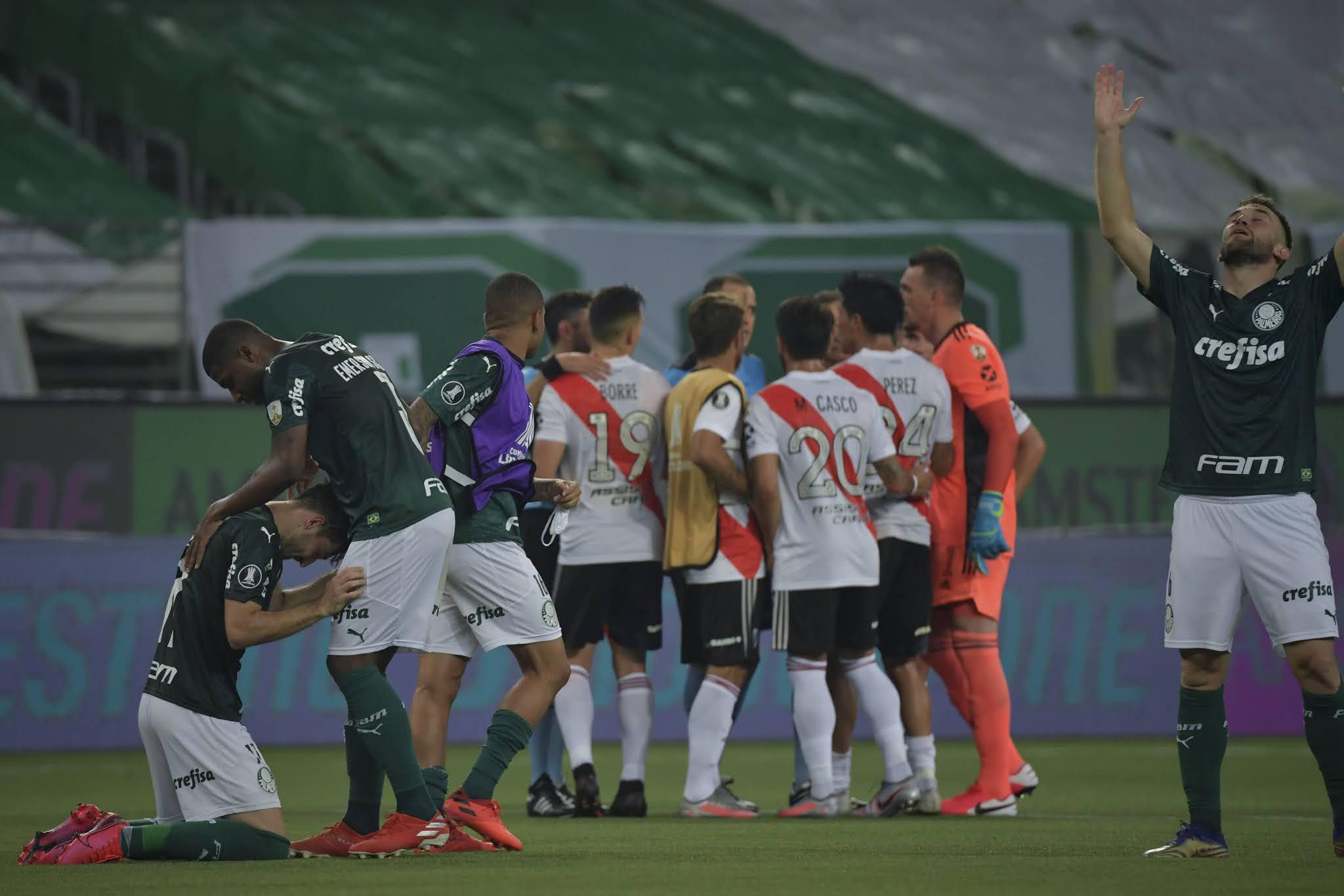 River quedó a un gol de la hazaña ante Palmeiras y fue eliminado de la Copa Libertadores