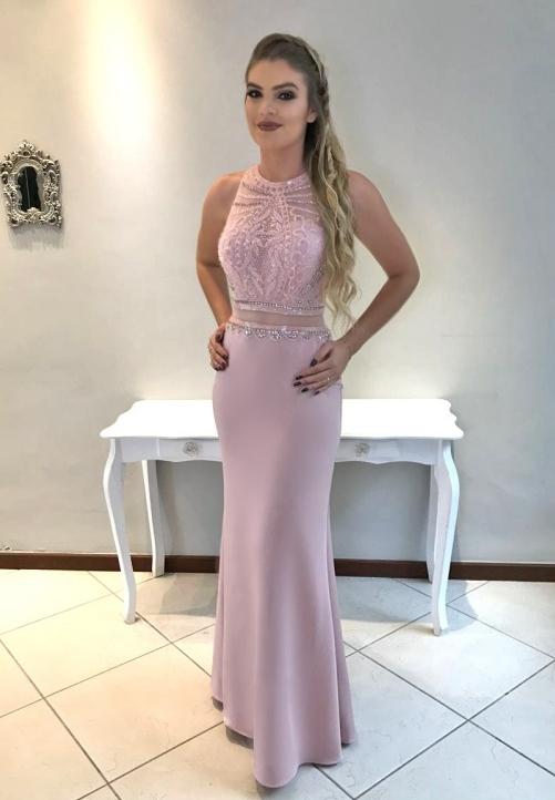 vestido de festa rosa quartz