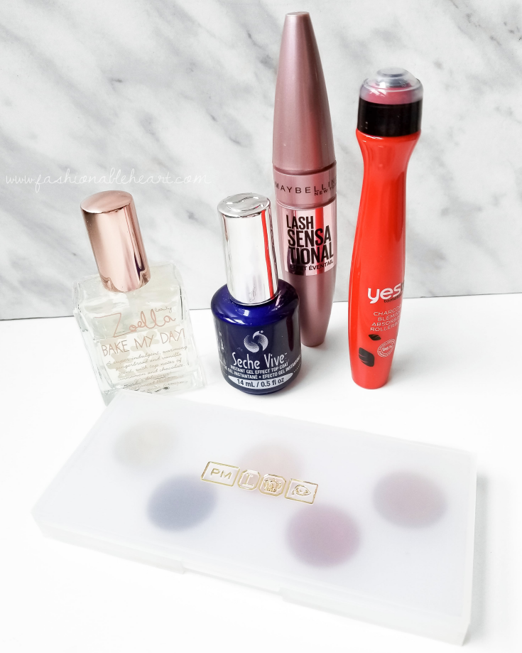 bblogger, bbloggers, bbloggerca, bbloggersca, canadian beauty bloggers, beauty blog, monthly favorites, zoella bake my day, seche vive, gel top coat, maybelline, lash sensational mascara, yes to tomatoes, clear-looking skin, rollerball, pat mcgrath, eye ecstasy, sublime palette, beauty faves