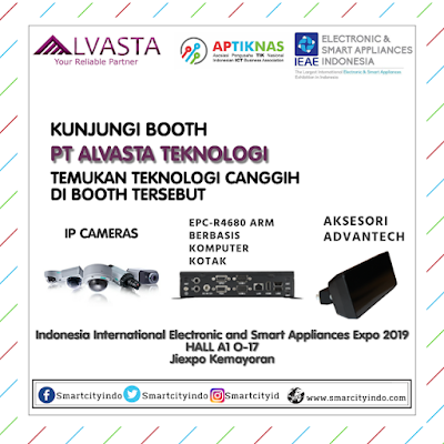 VISIT BOOTH PT ALVASTA TEKNOLOGI di HALL A1 O-17 at Jakarta International Expo Kemayoran