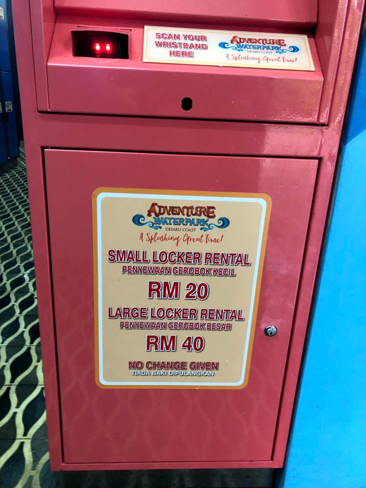 How much is desaru waterpark locker