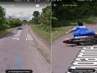 Heboh Penampakan Emak-Emak Terjungkal dari Motor di Google Street View