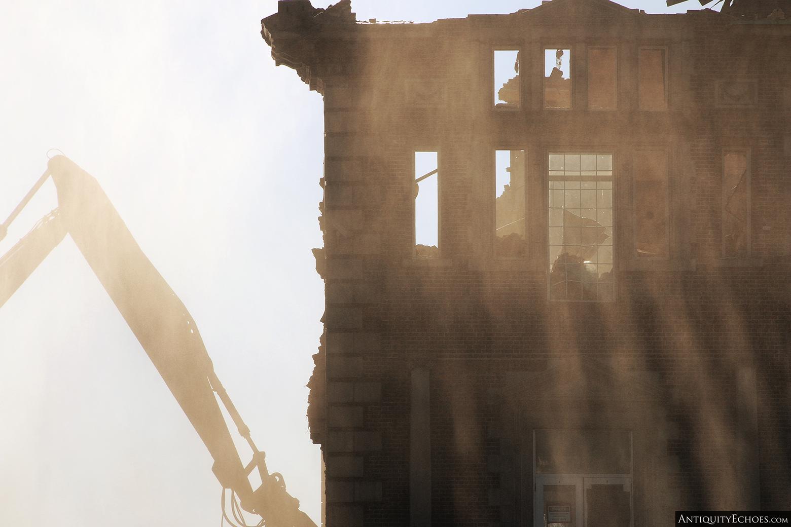 Allentown State Hospital - Demolition - Sunbeams and Debris