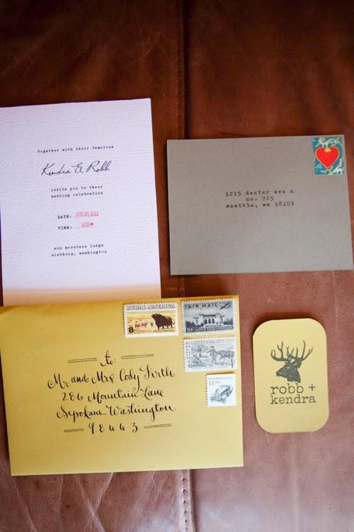 Thiệp cưới dạng Postcard lạ lẫm bắt mắt 12