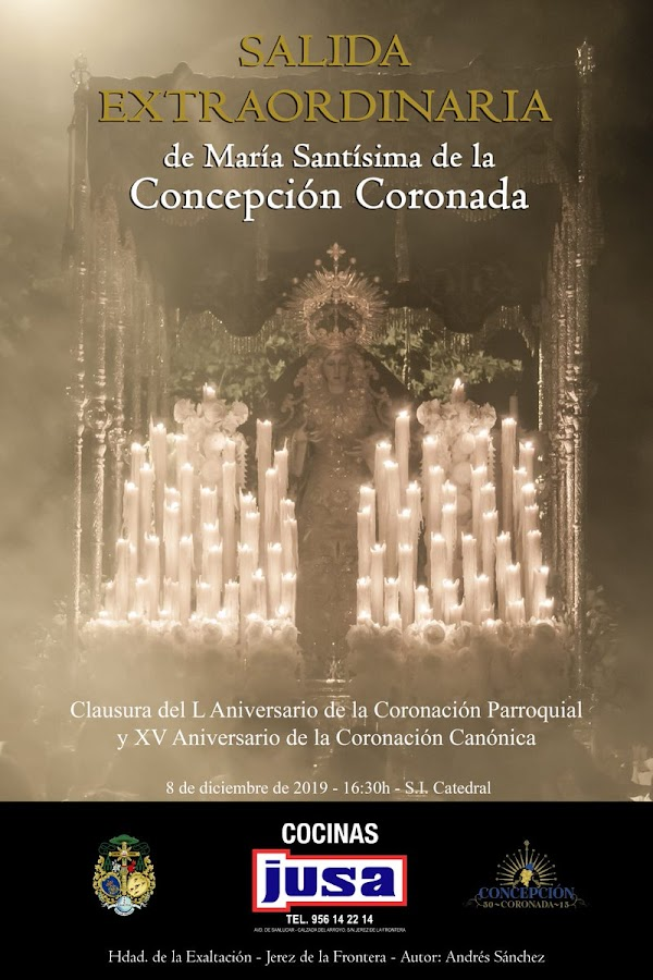 Cartel anunciador de la Salida Extraordinaria de Mª Stma de la Concepción Coronada de Jerez de la Frontera
