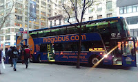 Bus at stop in NYC