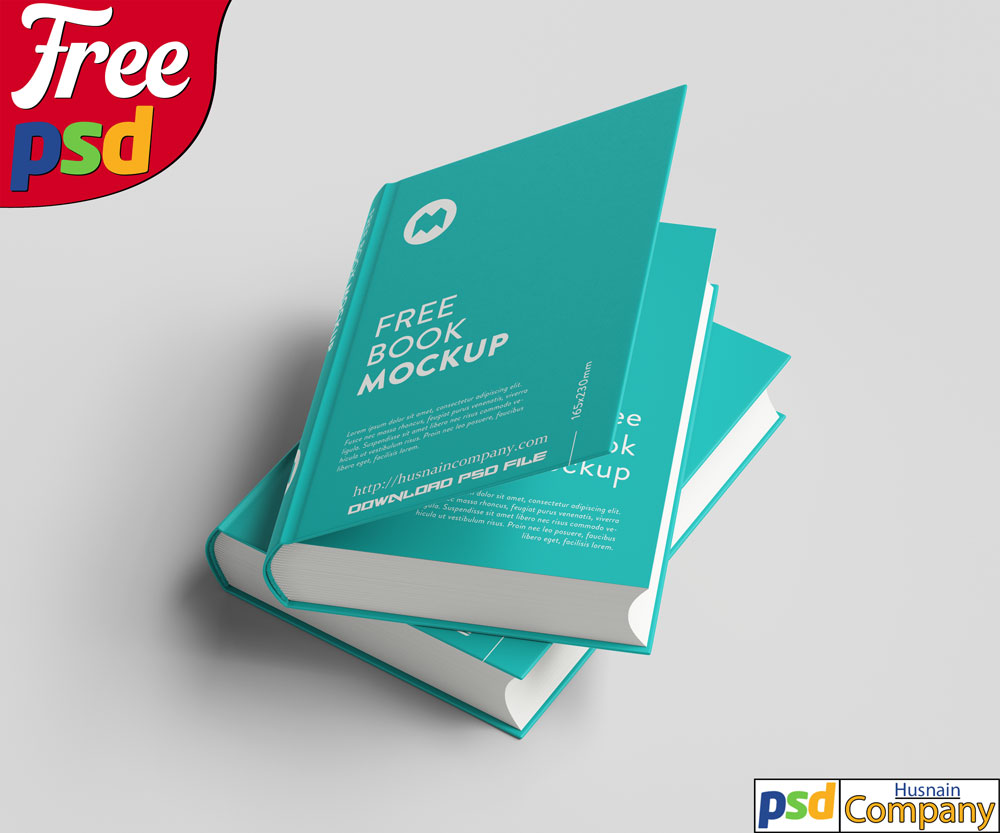 Download Free Thick Book PSD Mockup #9