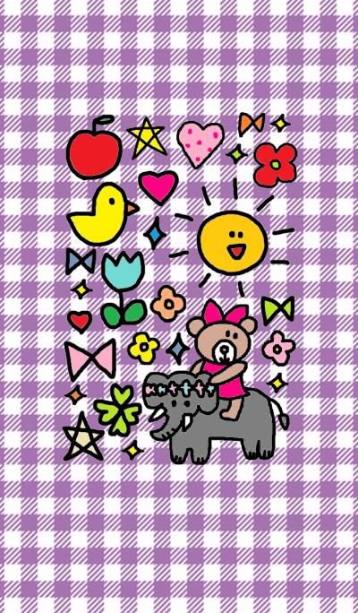 Lilo and elephant(purple)