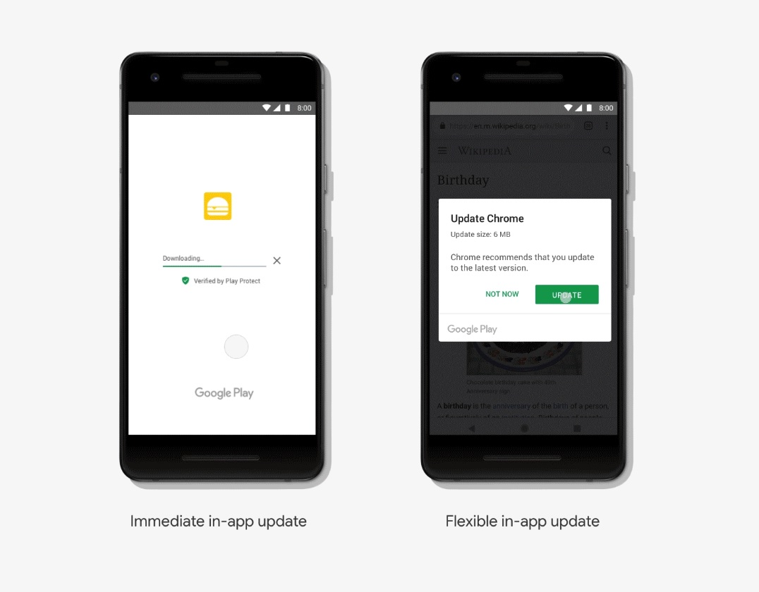 Google introduces In-app Updates API that allows Android apps to update while you're using them