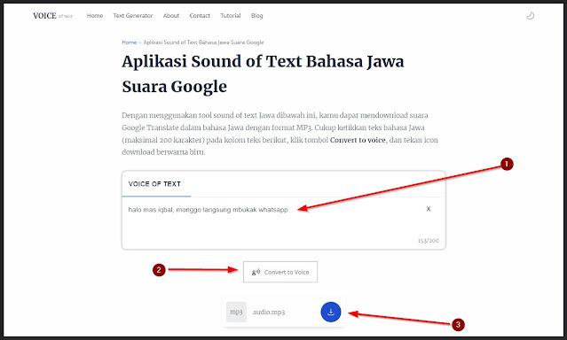 cara pakai sound of text jawa tanpa aplikasi